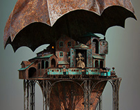 Concept for the puppet theater exterior