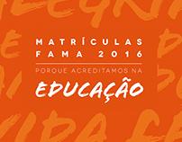Matrículas Fama 2016