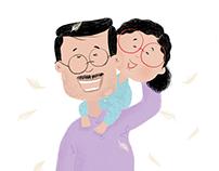 Papa & I - Illustration
