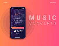 Mobile application for buying tickets on music concerts