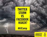 Amnesty International Facebook and Twitter adverts
