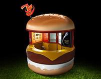 Tiny Kiosk Burger