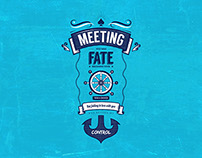 Meeting you was fate - Typographic Art