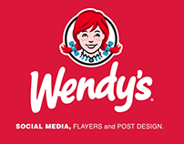 Wendy´s Social Media projects and flayers design