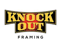 Knock Out Framing Logo Design
