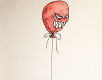 The boy of the horror balloon