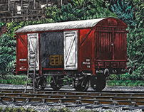 Rolling stock at the Bristol Harbour Railway