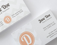 Peaches n' Cream Business Stationery