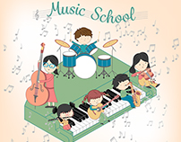 Illustration for Children Music School