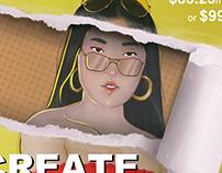 CREATE LIKE A PRO | Mock Print Ad for Procreate