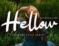 Hellow Script Font