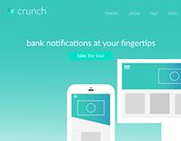 Crunch Landing Page UI