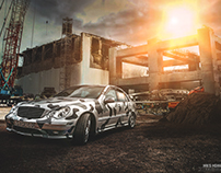 Mercedes C32 AMG Photoshoot&Creative Retouch