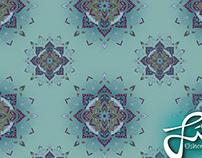 """Fabric Pattern """"Mandala"""""""