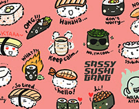 Sassy Sushi Gang - LINE Stickers