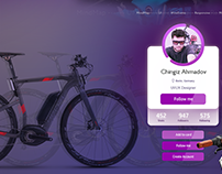 """UI/UX Design of """"cycling"""" bicycle shop"""