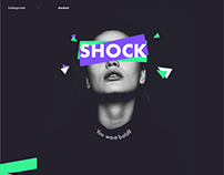 SHOCKED - typography experiment
