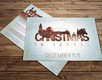 Christmas In Israel Postcard Template
