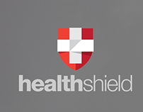 Healthshield branding and UI design
