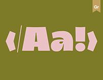 type process — glyph design