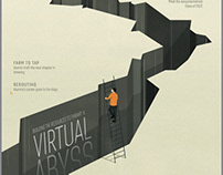"""Virtual abyss"" Cover for Virginia Tech"