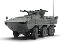 Concept unified combat platform 6x6