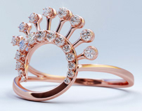 JEWELRY ANIMATION - ROSE GOLD DIAMOND RING