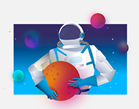 Astronaut Illustrations