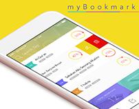 """""""myBookmark"""" Mobile APP UI design for bookmark"""