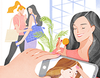 illustrations for COSMO magazine