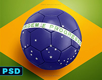 Soccer Ball, Football PSD Mockup Template