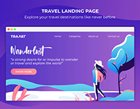 Travel Vector Landing Page Free Download