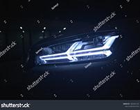 LED Car Frontlight 1 (Audi Q7)