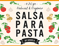 Etiquetas de salsa para Xiguela.