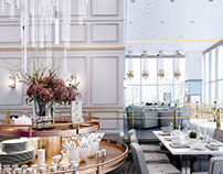 White Restaurant Design
