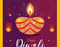 Diwali vector template download