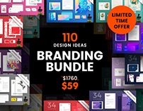 110 in 1 Branding Design Templates Bundle