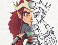 Brida, Wild Huntress - Character Concept