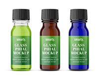 Pharmacy phial mockups