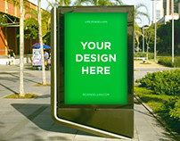 Outdoor Advertisement Mockup   FREE DOWNLOAD