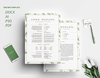 Leafs Resume Template / Free Coverletter