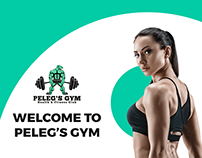 «Peleg's Gym». Landing Page