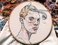 Portrait/embroidery