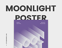 Moonlight Music Festival Poster.