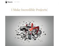 Portfolio Post Page - Resume WordPress Theme