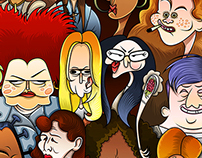 "My cartoon version of ""Orange Is the New Black"" :)"