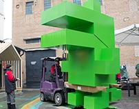 Кубический крокодил для арт-группы Pprofessors