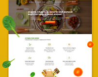 Site for Fitness Food Menu
