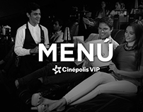 Menú Cinépolis VIP®