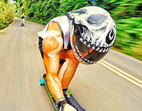 Longboard speed helmet